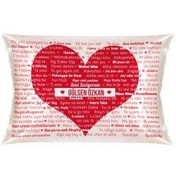 - 100 Dilde Seni Seviyorum Yastık