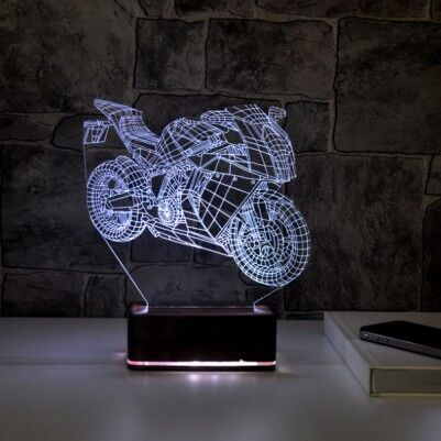 - 3D Motosiklet LED Lamba