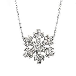 - 925 Ayar Kar Tanesi Gümüş Kolye