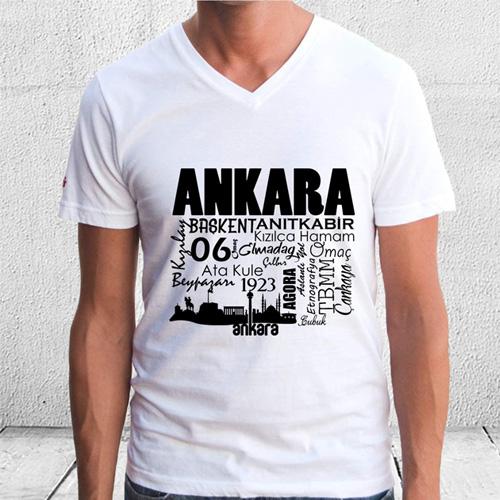 - Ankara Tasarımlı Baskılı Tişört