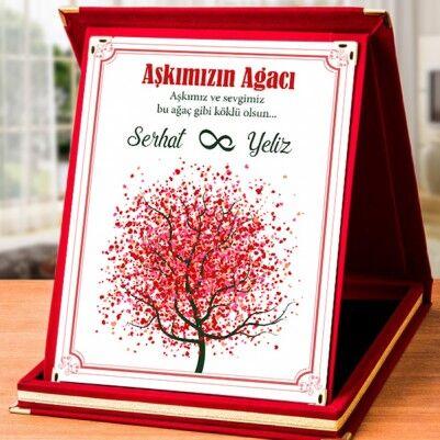 - Aşk Ağacımız Romantik Plaket