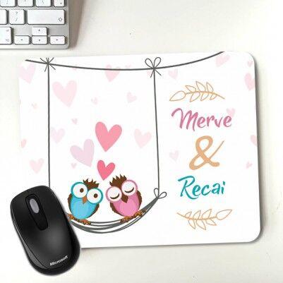 - Aşk Baykuşlar Sevgili Mousepadi