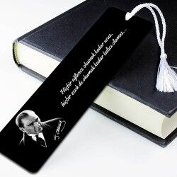 - Atatürk Resimli Kişiye Özel Kitap Ayracı