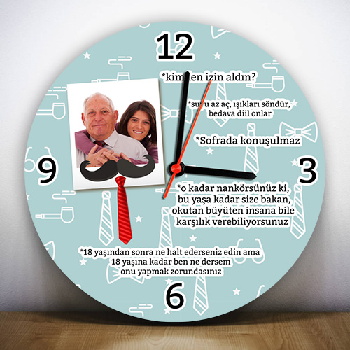 - Babamın Klasik Sözleri Duvar Saati