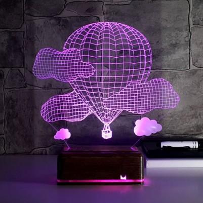 - Balon ve Bulutlar 3D Led Lamba