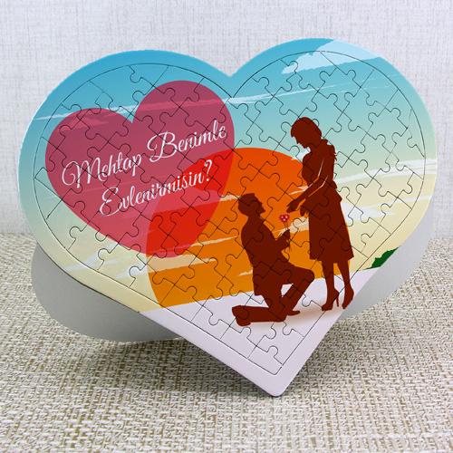 - Benimle Evlenir misin Kalp Puzzle