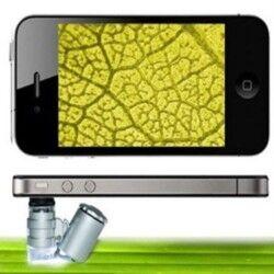 - Cep Telefonları için Mini Mikroskop - 60x Zoom