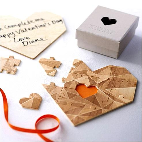 - Complete Me - Ahşap Kalp Puzzle