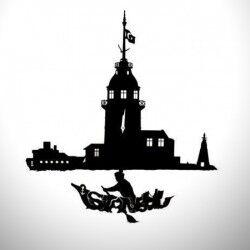 - Dekoratif Kız Kulesi Temalı Sarkaçlı Duvar Saati