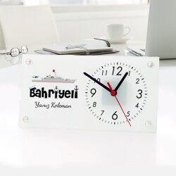 - Denizcilere Özel Cam Masa Saati