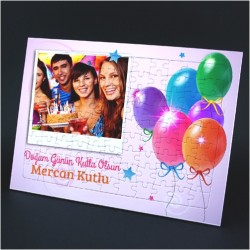 - Doğum Günü Konseptli Fotoğraflı Puzzle