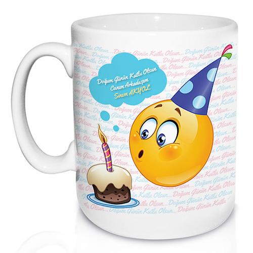 - Doğum Gününe Özel Emoji Kupa Bardak