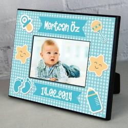 - Erkek Bebeklere Özel Fotoğraf Çerçevesi