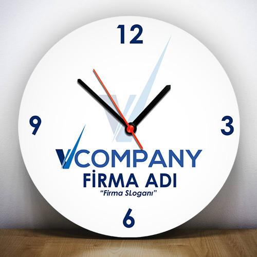 - Firmalara Özel Logo Baskılı Duvar Saati