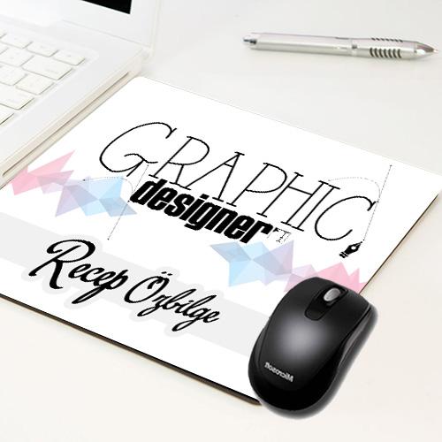 - Grafikerlere Özel İsim Yazılı Mousepad