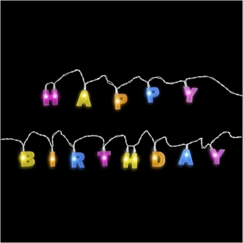- Happy Birthday LED Parti Işığı