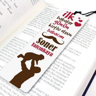 - İlk Babalar Günü Temalı Kitap Ayracı