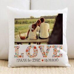 - İsme Özel Fotoğraflı Love Yastık