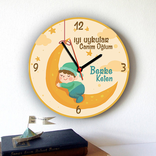 - İyi Uykular Oğlum Şirin Duvar Saati