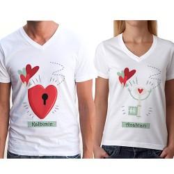 - Kalbimin Anahtarı Sende Sevgili Tişörtü