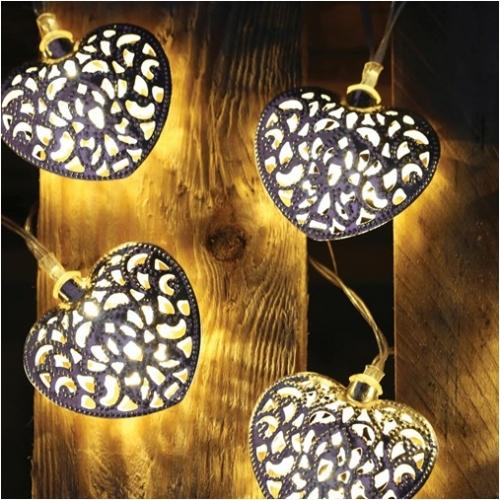 - Kalp Şeklinde Solar Dekor LED Lambalar 12′li