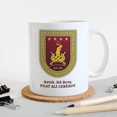 - Kara Kuvvetleri Komutanlığı Armalı Kupa Bardak