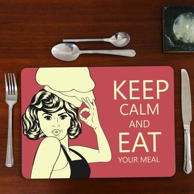 - Keep Calm and Eat Your Meal Amerikan Servisi