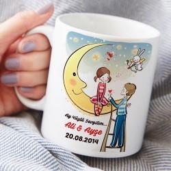 - Kişiye Özel Ay Yüzlü Sevgilim Kupa Bardak