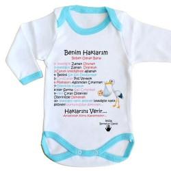 - Kişiye Özel Benim Haklarım Bebek Zıbını