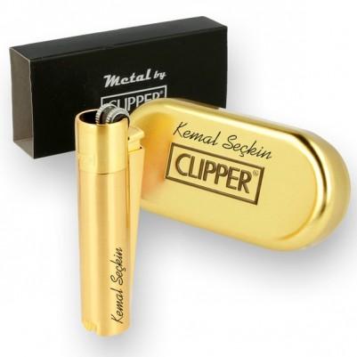 - Kişiye Özel Clipper Çakmak GOLD