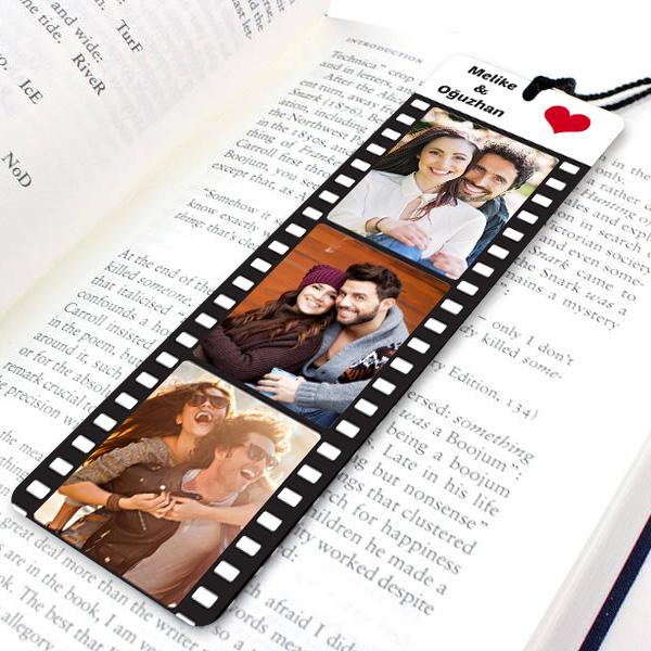 Kişiye Özel Film Şeridi Kitap Ayracı