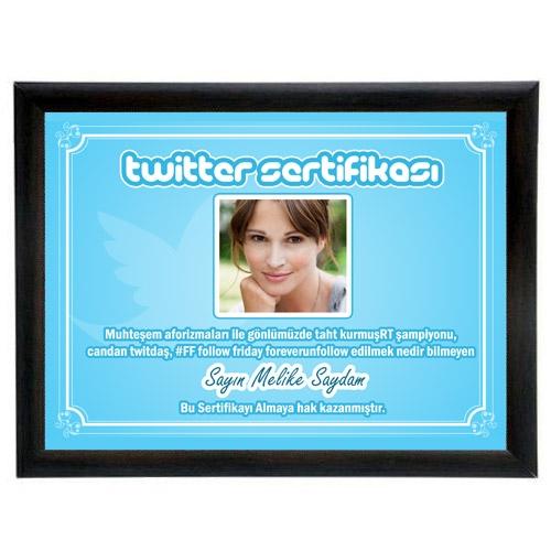 - Kişiye Özel Fotoğraflı Twitter Sertifikası