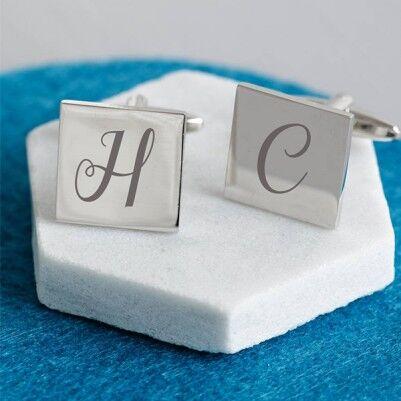 - Kişiye Özel Harfli Gümüş Kol Düğmesi