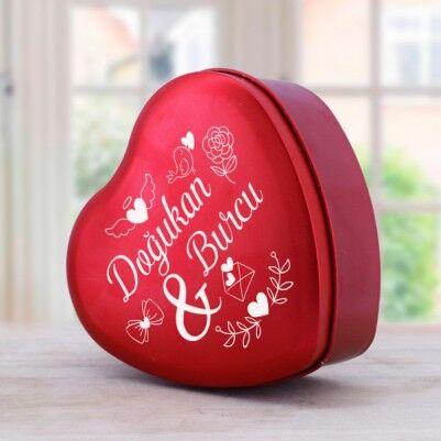 - Kişiye Özel Kalp Tasarımlı Hediye Kutusu