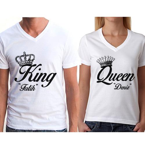 - Kişiye Özel King And Queen Tişörtü