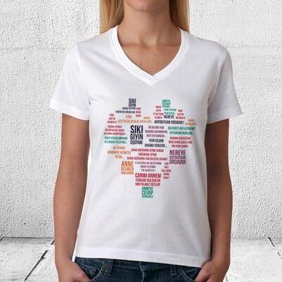 - Kişiye Özel Klasik Anne Sözleri Tişörtü