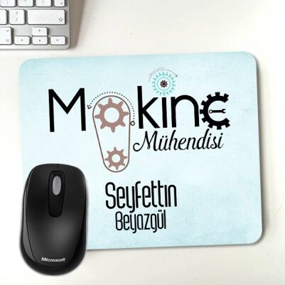 - Kişiye Özel Makine Mühendisi Mousepad