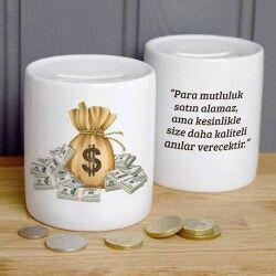 - Kişiye Özel Mesajlı Para Kumbarası