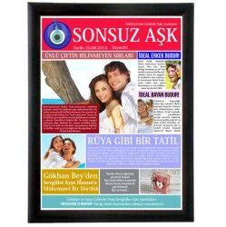 - Kişiye Özel Sonsuz Aşk Gazetesi