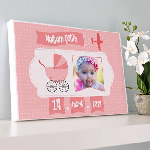- Kız Bebeklere Özel Kanvas Tablo