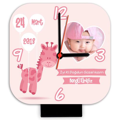 - Kız Bebeklere Özel Masa Saati