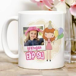 - Kız Çocuklara Özel Kupa Bardak