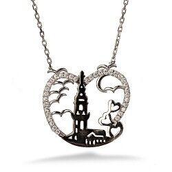 - Kız Kulesi Gümüş Kolye