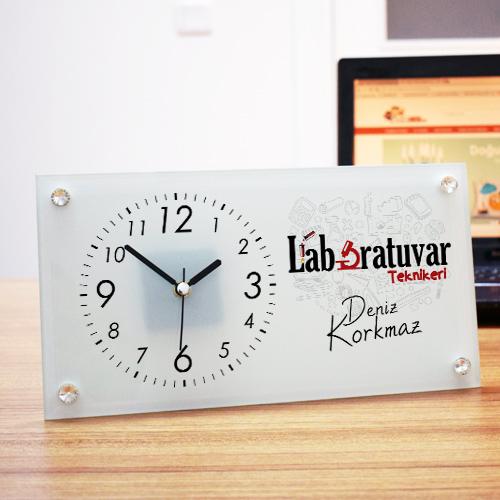 - Laboratuvar Teknikerlerine Özel Cam Masa Saati