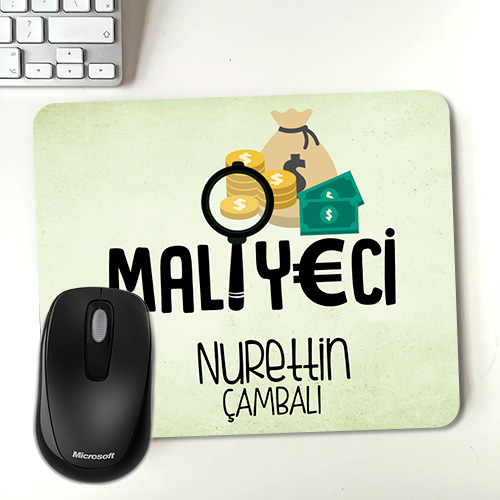 Maliyeciye Hediye İsim Yazılı Mousepad