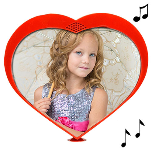- Müzikli Dönen Kalp Resim Çerçevesi