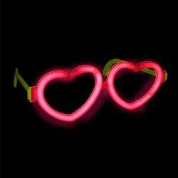 - Neon Işıklı Kalp Parti Gözlüğü