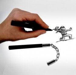 - Nunçaku Kalemler 2′li Set
