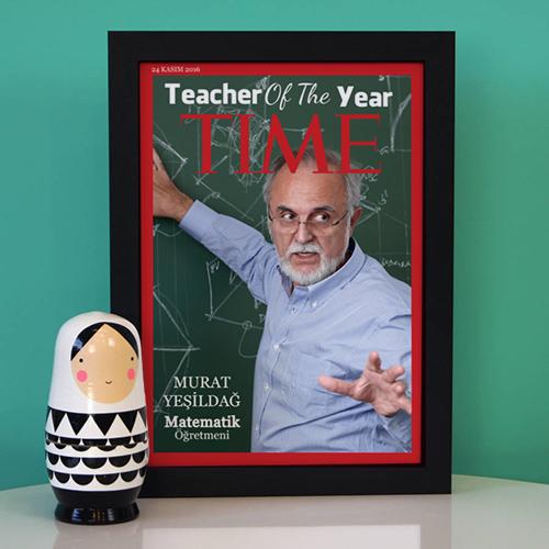 - Öğretmene Hediye TIME Dergi Kapağı