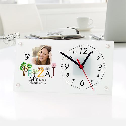- Peyzaj Mimarlarına Özel Cam Masa Saati